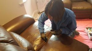 Leather scratches on sofa cleaning doncaster