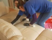 How often to clean leather sofa